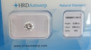 0,99 ct. / River E / VS1 / HRD